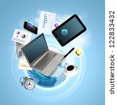 best internet concept of global ... | Shutterstock . vector #122833432