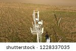 cellular tower. equipment for... | Shutterstock . vector #1228337035