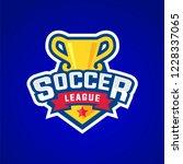 soccer league badge graphic... | Shutterstock .eps vector #1228337065