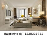 3d rendering loft luxury living ... | Shutterstock . vector #1228339762