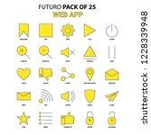 web app icon set. yellow futuro ...