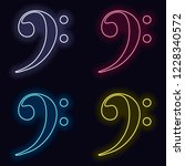 bass clef icon. set of fashion... | Shutterstock .eps vector #1228340572