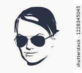 portrait of beautiful woman in... | Shutterstock . vector #1228345045