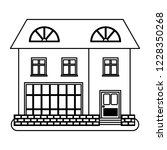 house in thin line style on...   Shutterstock .eps vector #1228350268
