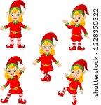 cartoon christmas elves in... | Shutterstock .eps vector #1228350322