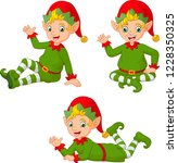 cartoon christmas elves in... | Shutterstock .eps vector #1228350325