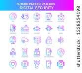 25 blue and pink futuro digital ... | Shutterstock .eps vector #1228354198