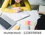 high school or college using... | Shutterstock . vector #1228358068