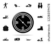 compass icon. army   war icons...