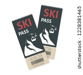 ski pass icon. winter sport... | Shutterstock .eps vector #1228381465