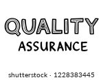 hand sketched lettering  qa...   Shutterstock .eps vector #1228383445