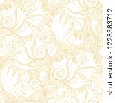 flower doodles seamless pattern.... | Shutterstock .eps vector #1228383712
