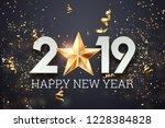 creative background  2019 happy ... | Shutterstock . vector #1228384828