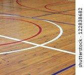 Wooden Floor Of Sports Hall...