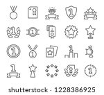 set of award line icons  such... | Shutterstock .eps vector #1228386925