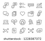 set of feedback line icons ... | Shutterstock .eps vector #1228387372