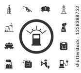 automotive fuel ratio icon....