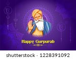 illustration of happy gurpurab  ... | Shutterstock .eps vector #1228391092