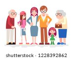 happy family characters love... | Shutterstock . vector #1228392862