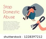 stop domestic abuse. vector... | Shutterstock .eps vector #1228397212