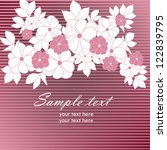 wedding card or invitation with ... | Shutterstock .eps vector #122839795