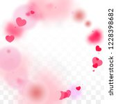 hearts confetti falling... | Shutterstock .eps vector #1228398682