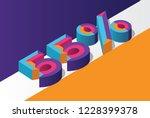 isometric 55  percent off  3d... | Shutterstock .eps vector #1228399378