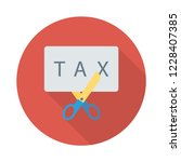 cut  tax  scissor   | Shutterstock .eps vector #1228407385