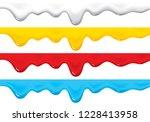 graphic liquid  vector | Shutterstock .eps vector #1228413958