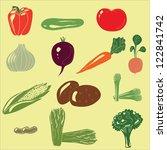 set of vegetable icons | Shutterstock .eps vector #122841742