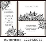 vintage delicate greeting... | Shutterstock . vector #1228420732