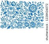 beautiful card folk art floral...   Shutterstock . vector #1228426072