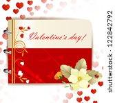 happy valentines day banner... | Shutterstock .eps vector #122842792