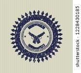 blue crossed pistols icon...   Shutterstock .eps vector #1228430185
