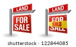 land for sale sign illustration ... | Shutterstock . vector #122844085