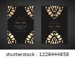 wedding invitation templates.... | Shutterstock .eps vector #1228444858