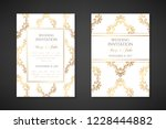 wedding invitation templates.... | Shutterstock .eps vector #1228444882