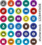 white solid icon set  dollar... | Shutterstock .eps vector #1228445608