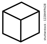 cube isolated vector icon that ...   Shutterstock .eps vector #1228449628