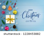 realistic holiday greeting card ... | Shutterstock .eps vector #1228453882