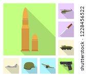 vector design of weapon and gun ... | Shutterstock .eps vector #1228456522