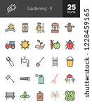 gardening filled line icons | Shutterstock .eps vector #1228459165