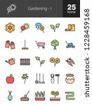 gardening filled line icons | Shutterstock .eps vector #1228459168