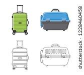 vector illustration of suitcase ...   Shutterstock .eps vector #1228460458