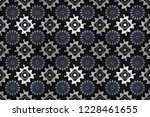 stylish ornamental wallpaper in ... | Shutterstock . vector #1228461655
