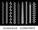 leaf nature pattern vector... | Shutterstock .eps vector #1228465825