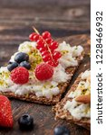 sandwich with nuts and berrie... | Shutterstock . vector #1228466932