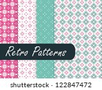 blossom retro patterns | Shutterstock .eps vector #122847472
