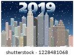 city new year's landscape   Shutterstock .eps vector #1228481068
