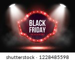 black friday sale banner with... | Shutterstock .eps vector #1228485598